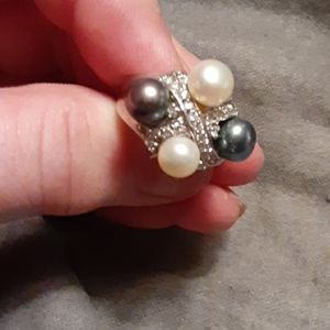 SS Genuine pearl ring